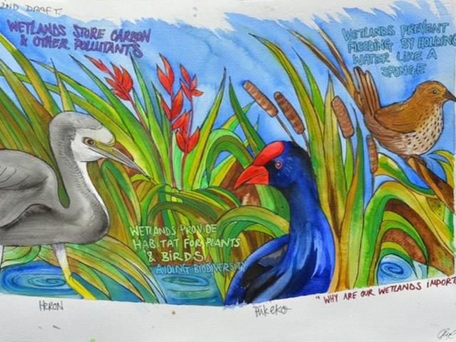 Artist Claire Rye's mural paints a picture of hope for South Dunedin.