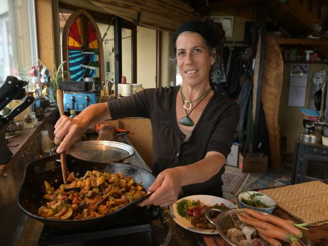 Hagar Orzi's harvest ratatouille features seasonal vegetables. Photos: Linda Robertson