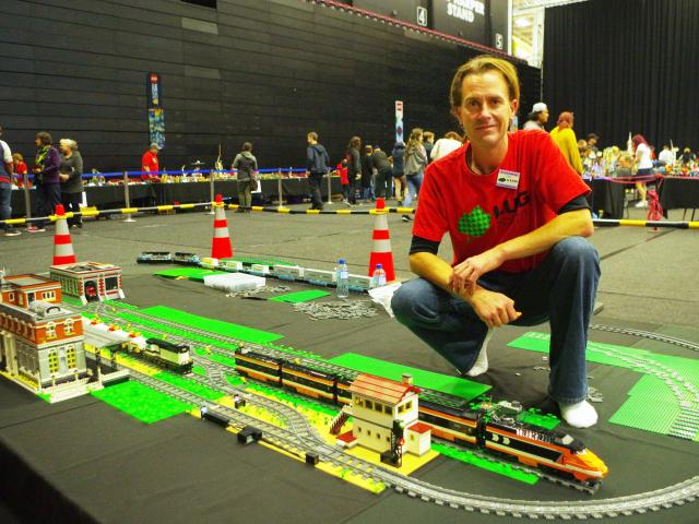 It started with one small Lego train set for Chris Dawson's yet-to-be-born child. That was five...