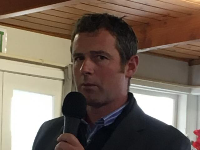 Federated Farmers North Canterbury meat and wool chairman Daniel Maxwell gets proceedings under way at the provincial annual meeting at the Waimakariri Gorge Golf Club on Friday, April 5. P