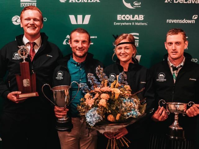 Jeffrey Hawes (left), Thomas and Hannah Oats, and George King won the West Coast-Top of the South...