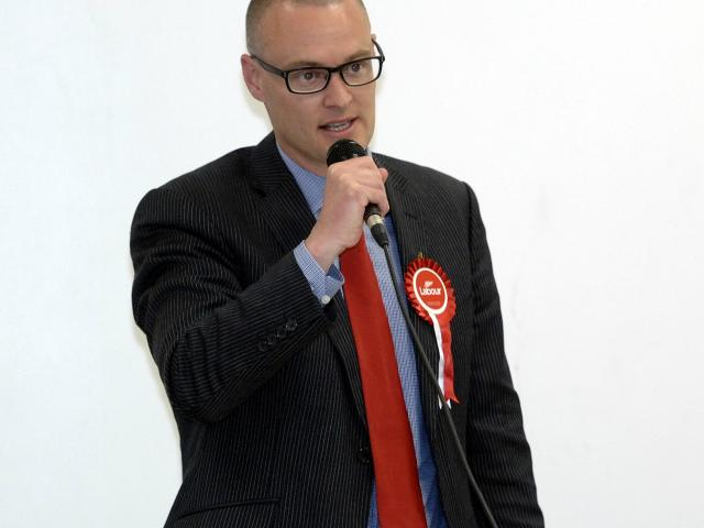 David Clark campaigning in his first election, in 2011.PHOTO: ODT FILES