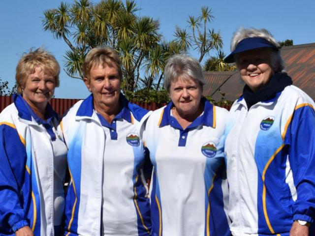 The winning Taieri women's bowls team (from left): Beth Brown, Lorraine Turnbull, Jan Barclay and...