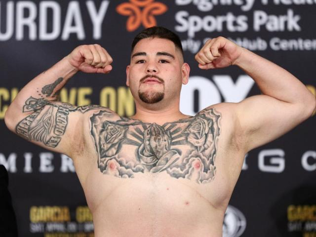 Andy Ruiz prior to a fight earlier this year. Photo: Getty Images