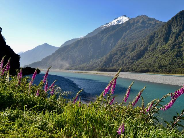 The road meanders along the Haast River. PHOTOS: JANE KING...