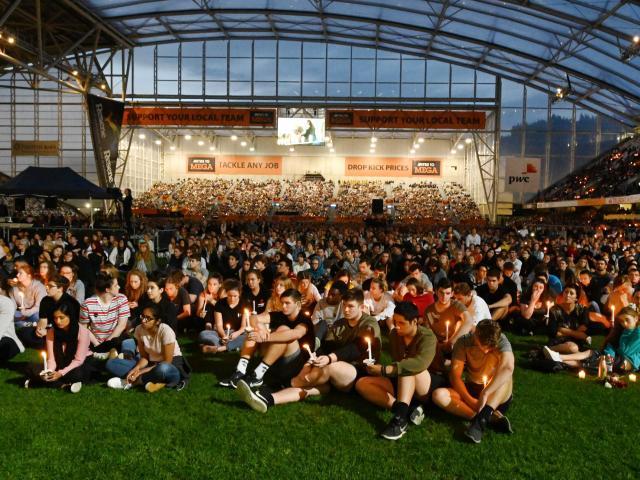 A crowd of around 18,000 gathered at Forsyth Barr Stadium in Dunedin last night. Photos: Gerard O...