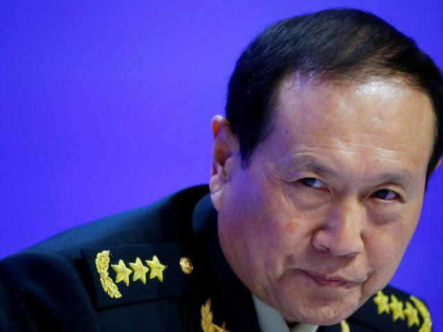 Chinese Defense Minister Wei Fenghe attends the IISS Shangri-la Dialogue in Singapore. Photo:...