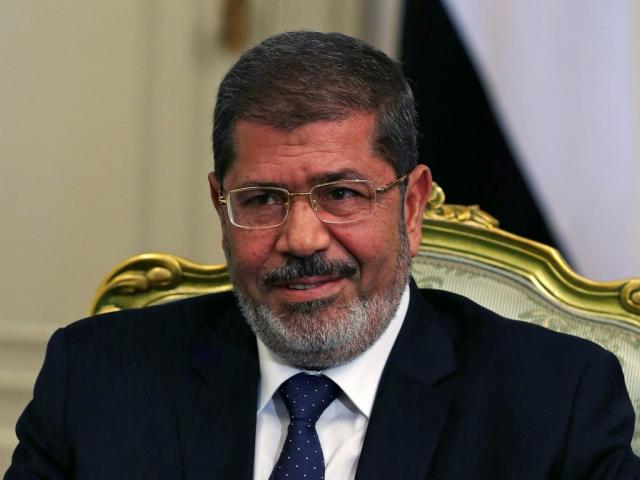 Former Egyptian president Mohamed Mursi at the presidential palace in Cairo in 2012. Photo: Reuters