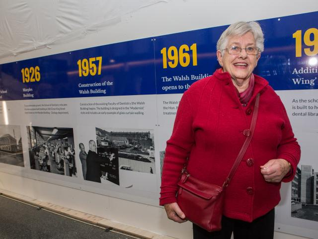 Former Faculty of Dentistry Dean Sir John Walsh's daughter Dame Elizabeth Hanan, of Dunedin, with...