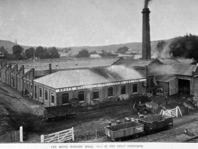 The Bruce Woollen Mills, one of the chief industries in the South Otago town of Milton. — Otago...