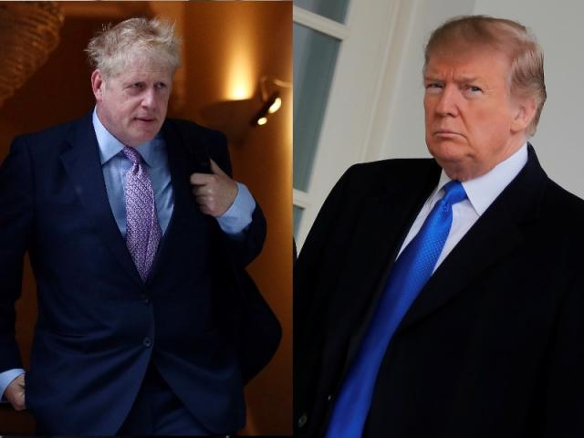 Candidate for the Prime Minister of the UK Boris Johnson and US President Donald Trump. Photos:...