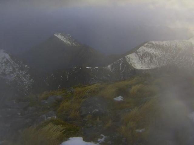 The Kepler Track in Fiordland National Park at 9.50am today. Photo: Doc