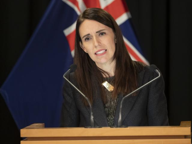 Prime Minster Jacinda Ardern answers questions on maternity services in Lumsden. PHOTO: NZME