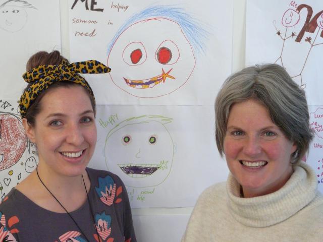 Project Bruce community development worker Kim Schiller (right), and Toko Hub co-ordinator Arna...