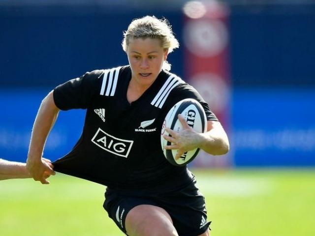 Chelsea Alley runs the ball up for the Black Ferns. PHOTO: GETTY IMAGES