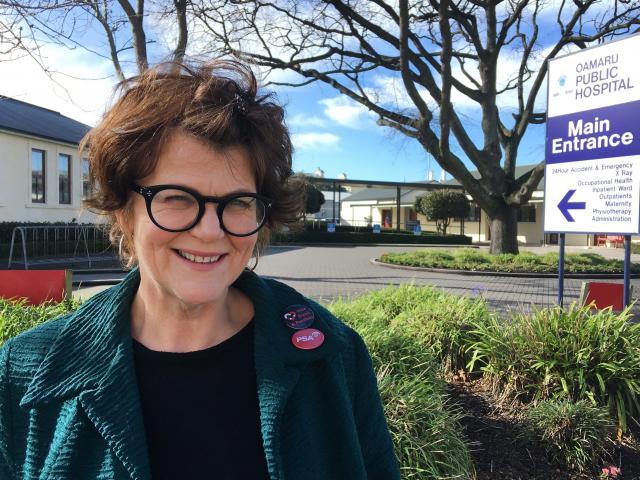 Public Service Association organiser Jen Wilson at Oamaru Hospital, where Allied Health and...