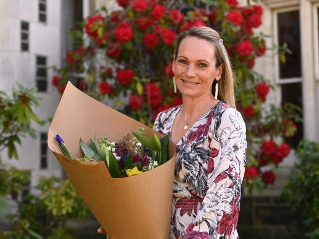 Leading Dunedin veterinarian Dr Helen Beattie, at Columba College, Dunedin, ...