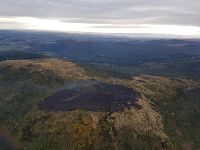 An aerial image shows the area affected by last week's blaze on Flagstaff. Photo: DCC Facebook page