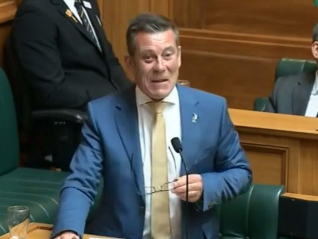Michael Woodhouse sports a black eye in Parliament this week. PHOTO: PARLIAMENT TV