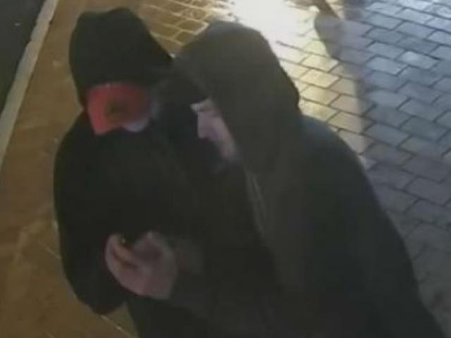 Police want to speak to these two men in relation to the assault. Photo: NZ Police