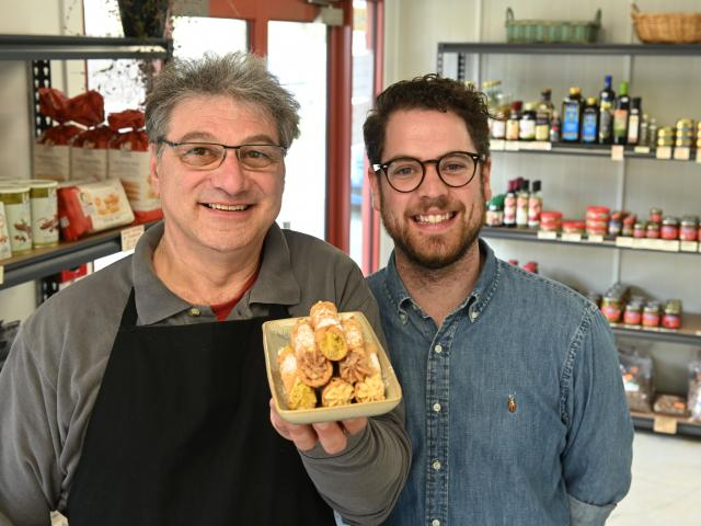Artisan pantry owner Vito Iannece (left) and operations and marketing manager Charlie Buchan,...