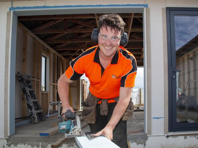 Mark Smith's building apprenticeship has given him a new lease of life. 
