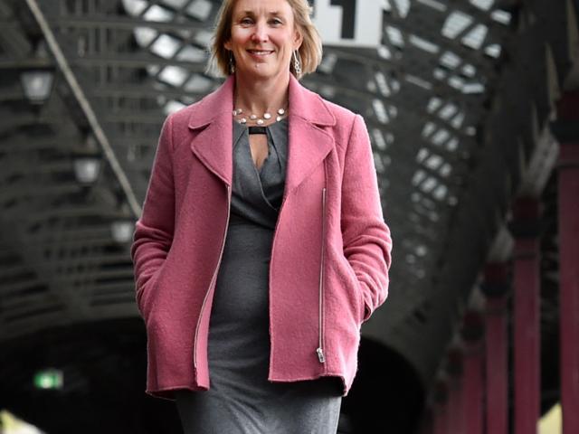 iD Dunedin Fashion Week committee co-chairwoman Sally Peart at the Dunedin Railway Station, where...