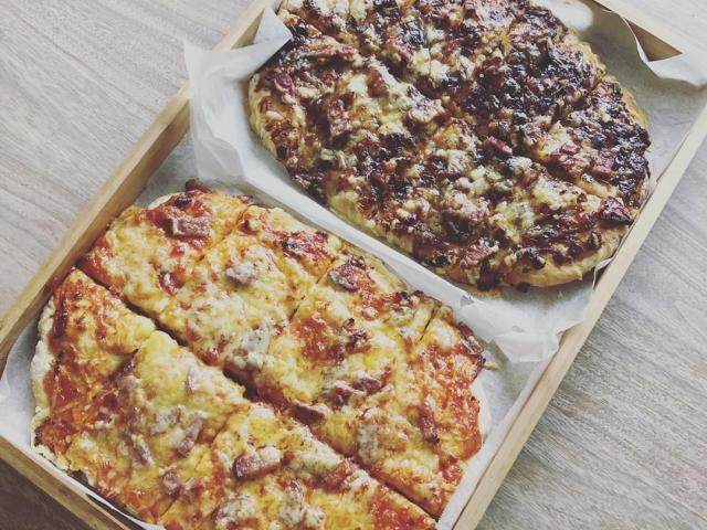 Pizzas made with a base with just two ingredients. PHOTO: PHILIPPA CAMERON