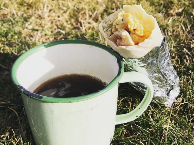 Breakfast burritos inspired by Joe, who was a liftie for a season in Colorado, USA. PHOTO: PHILIPPA CAMERON