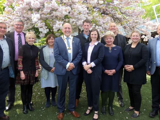 Councillors (from left) Nigel McKinlay, Neil Gillespie, Cheryl Laws, Shirley Calvert, Mayor Tim...