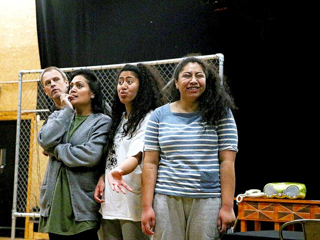 NEW GENERATION: The cast of Fresh Off the Boat rehearsing for their upcoming season at The Court...