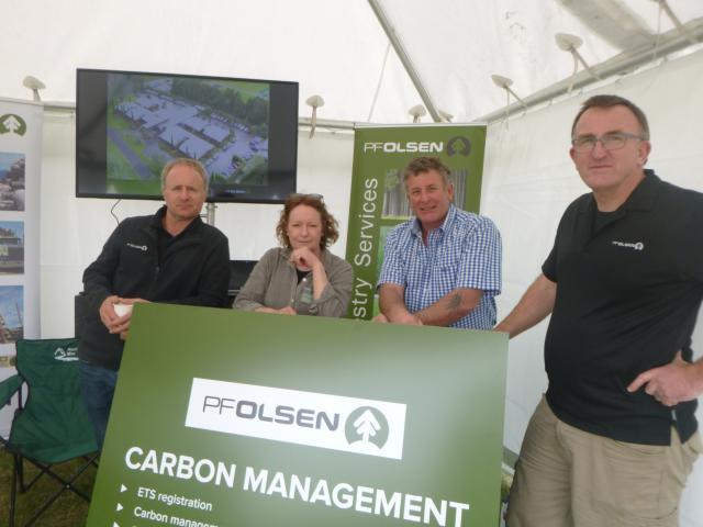 PF Olsen staff, from left, branch manager Dave Thode, business development manager Julie Hayward,...