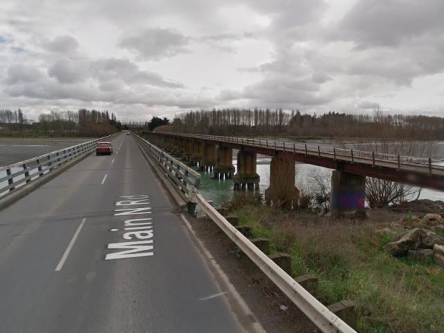 The Waimakariri Bridge, north of Christchurch. Photo: Google Maps