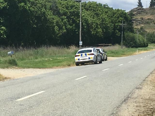 Police attend the scene of a workplace incident in Earnscleugh today. Photo: Adam Burns