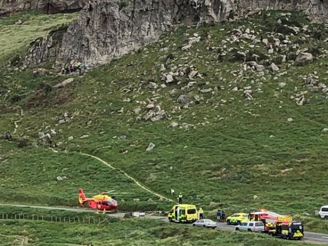 A rescue helicopter was called in to take the injured person to Christchurch Hospital. Photo: RNZ
