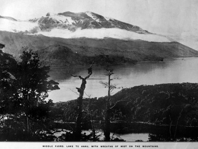 Middle Fiord, Lake Te Anau. — Otago Witness, 18.11.1919. COPIES OF PICTURE AVAILABLE FROM ODT...