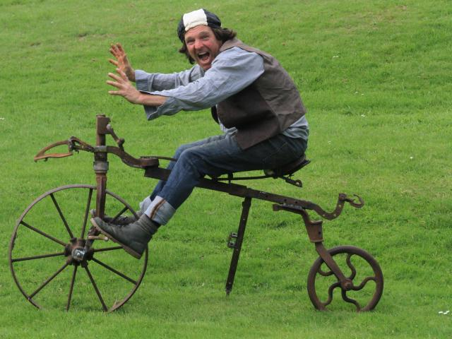 """North Otago artist Matt King's """"Tansley Snawton'' is another found-metal sculpture - and working..."""