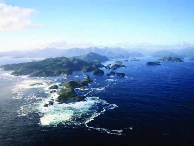 Dusky Sound, with the Seal Islands in the foreground and Anchor Island behind. Dusky Sound was...