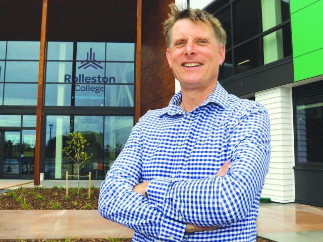 Steve Saville has resigned as principal of Rolleston College. Photo: Geoff Sloan