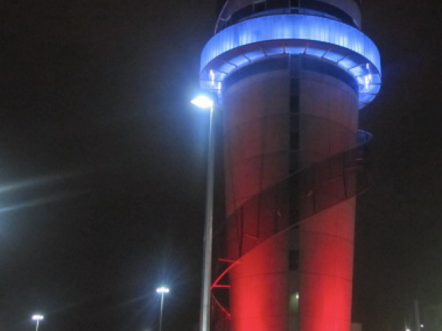 The Christchurch Airport control tower.