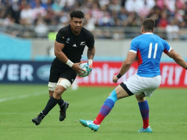 All Blacks flanker and New Zealand Rugby player of the year Ardie Savea on the run during the...