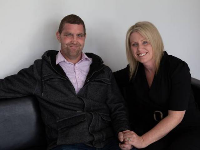 Blair Vining, pictured with his wife Melissa, campaigned for better cancer treatment for all...