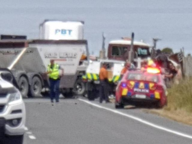 The scene of the fatal crash near Kaikōura. Photo: Supplied