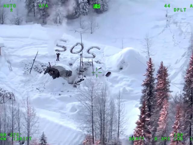 Alaskan State Troopers rescued Tyson Steele, who survived in a makeshift shelter after his remote...