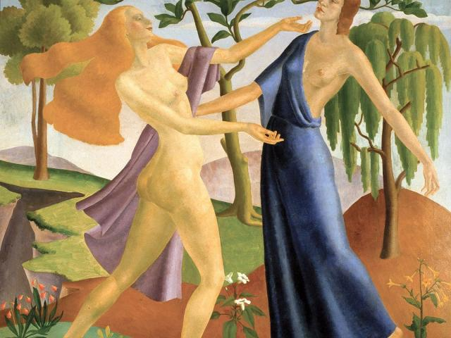 Persephone's Return to Demeter, by A. Lois White. ''The Circle'' (Dunedin Public Art Gallery).