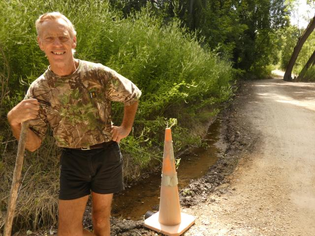 Barrie Wills, co-director of Central Otago Clutha Trails, inspects a section of the Roxburgh...