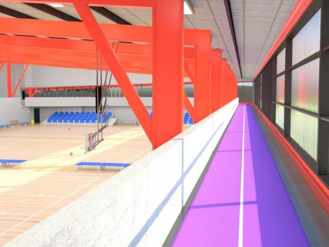 The planned new indoor court facility. Image: Selwyn District Council
