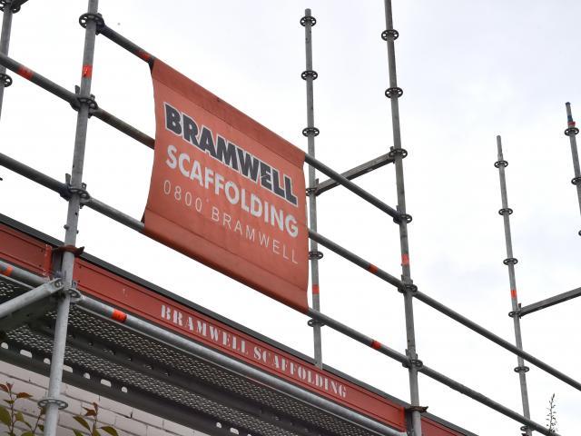 Bramwell Scaffolding in Dunedin. Photo: Gerard O'Brien