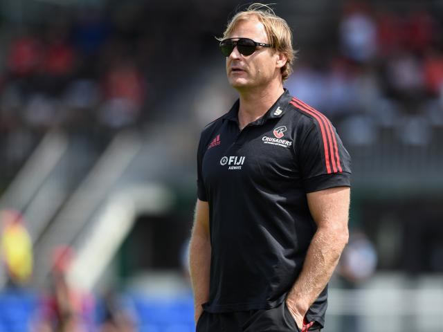 Scott Robertson watching as the Crusaders accounted for the Hurricanes 40-19 in Ashburton at the...