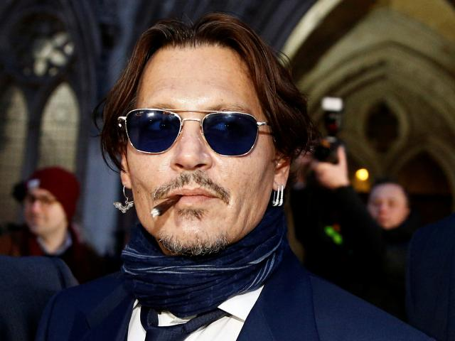 Johnny Depp at the High Court in London. Photo: Reuters